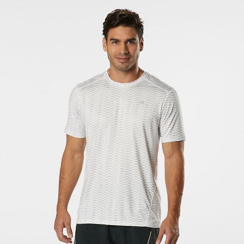 Mens Road Runner Sports Runners High Geometric Short Sleeve Technical Tops - White L