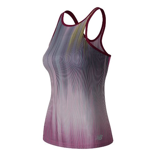 Womens New Balance Yarra Sleeveless & Tank Technical Tops - Jewel Multi M
