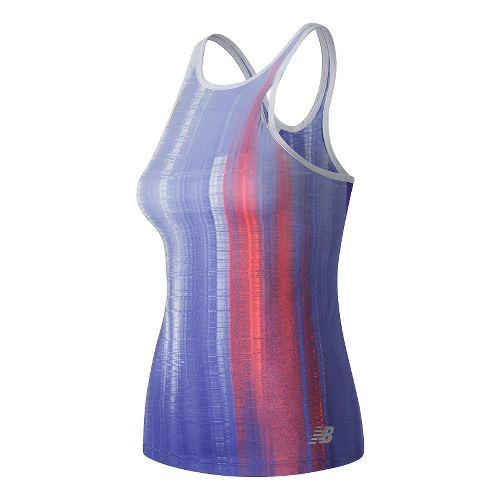 Womens New Balance Yarra Sleeveless & Tank Technical Tops - Spectral Print S