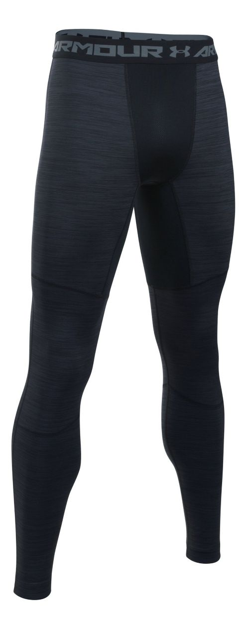 Mens Under Armour ColdGear Armour Twist Tights & Leggings Pants - Black/Steel 3XLR