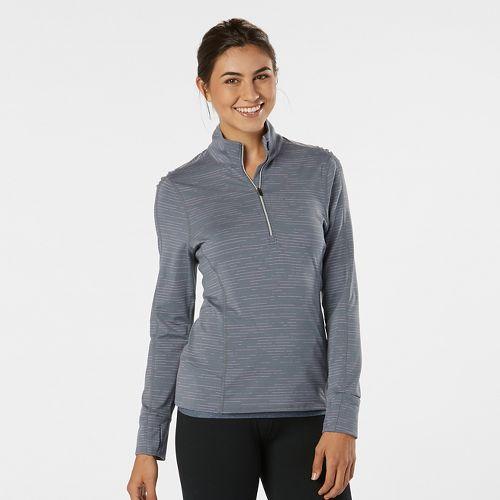 Womens Road Runner Sports Ready To Go Half-Zips & Hoodies Technical Tops - Grey Mist ...