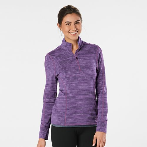 Womens Road Runner Sports Ready To Go Half-Zips & Hoodies Technical Tops - Let's Jam Spacedye L