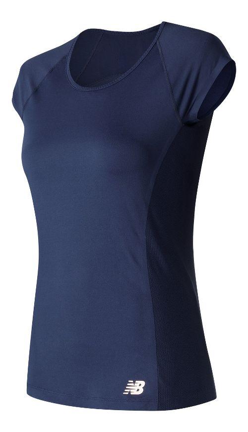 Womens New Balance Somerset Cap Sleeve Top Short Sleeve Technical Tops - Pigment XS