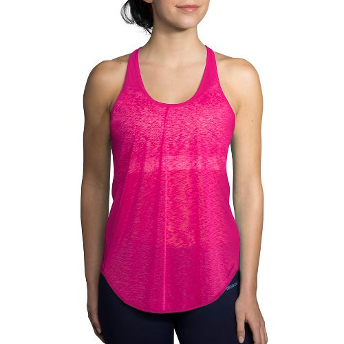Womens Brooks Ghost Racerback Sleeveless & Tank Technical Tops - Petal XXL