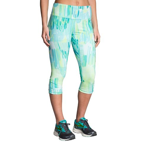 Womens Brooks Greenlight Printed Capri Tights - Mirage Kasbah XXL