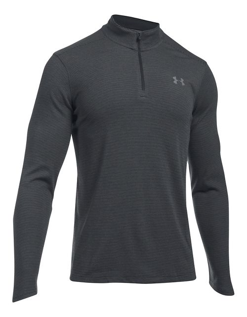 Mens Under Armour ColdGear Infrared 1/4 Zip Long Sleeve Technical Tops - Black/Graphite L