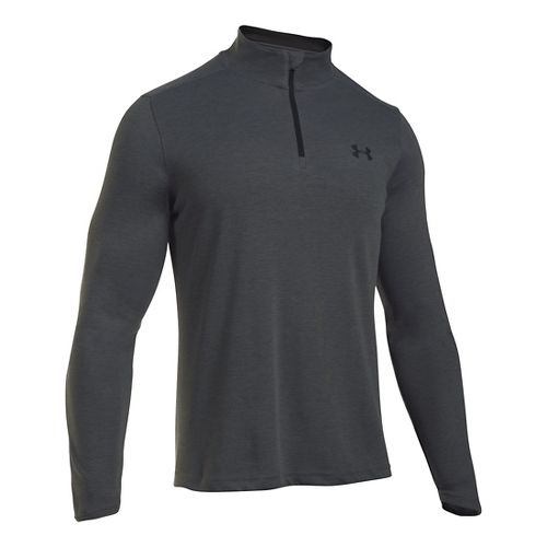 Mens Under Armour ColdGear Infrared 1/4 Zip Long Sleeve Technical Tops - Carbon Heather/Black ...