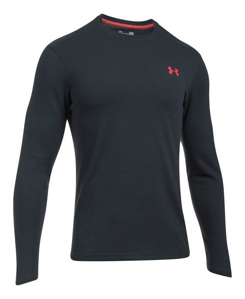 Mens Under Armour ColdGear Infrared Long Sleeve Technical Tops - Anthracite M