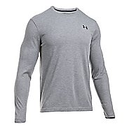 Mens Under Armour ColdGear Infrared Long Sleeve Technical Tops - True Grey Heather S