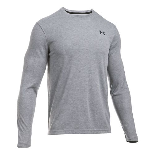 Mens Under Armour ColdGear Infrared T Long Sleeve Technical Tops - True Grey Heather SR ...