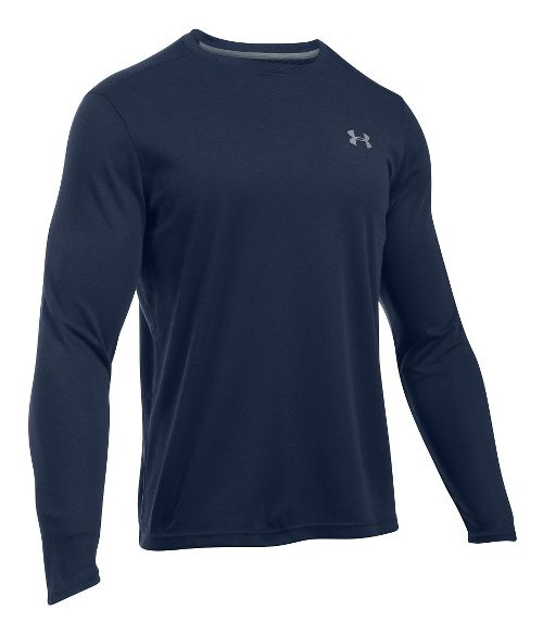 Mens Under Armour ColdGear Infrared Long Sleeve Technical Tops - Midnight Navy L