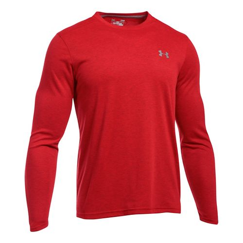 Mens Under Armour ColdGear Infrared Long Sleeve Technical Tops - Carbon Heather XXL