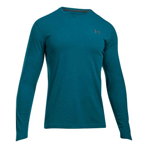 Mens Under Armour ColdGear Infrared Long Sleeve Technical Tops - Bayou Blue L