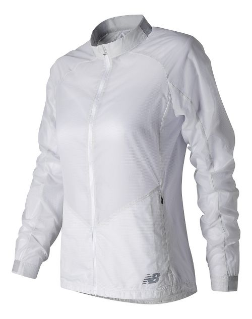 Womens New Balance First Lightweight Jackets - White XS