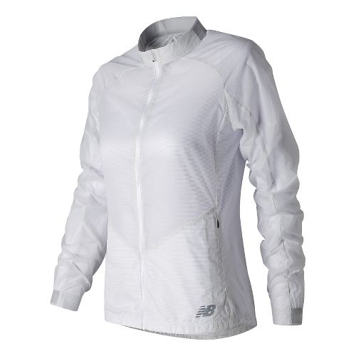 Womens New Balance First Lightweight Jackets - White L