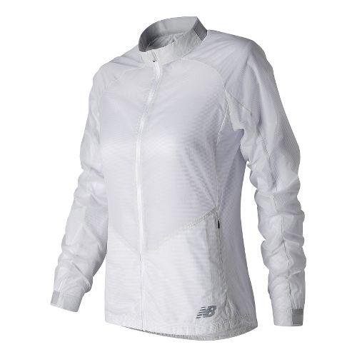Womens New Balance First Lightweight Jackets - White XS