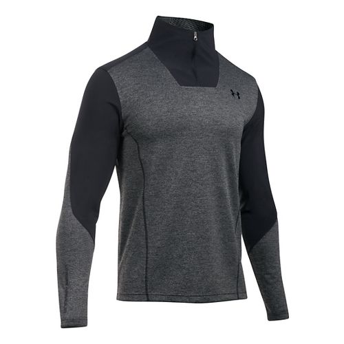 Mens Under Armour ColdGear Infrared Raid 1/4 Zip Long Sleeve Technical Tops - Steel/Black LR ...