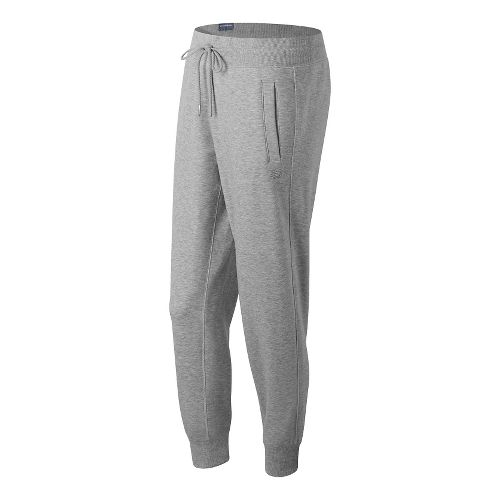 Womens New Balance Classic Tailored Sweatpants - Athletic Grey S