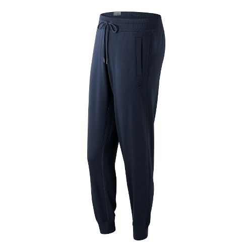 Womens New Balance Classic Tailored Sweatpants - Navy M