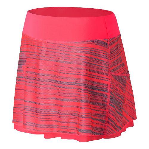 Womens New Balance Rosewater Reversible Fitness Skirts - Guava L