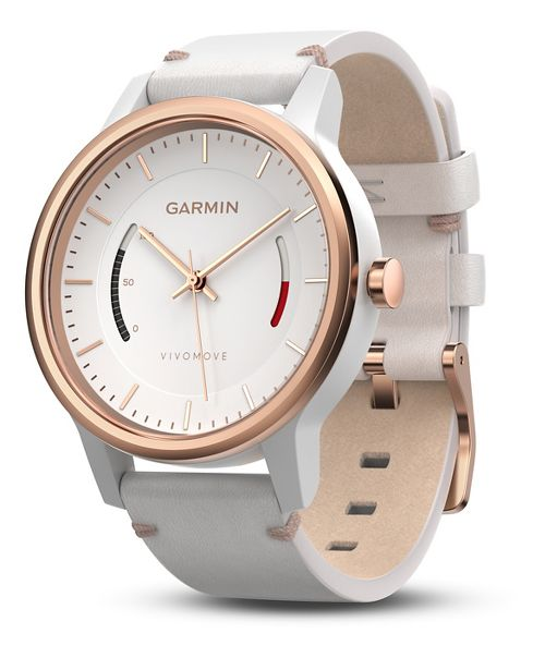 Garmin vivomove Classic Watch with Activity Tracker Monitors - White/Rose Gold