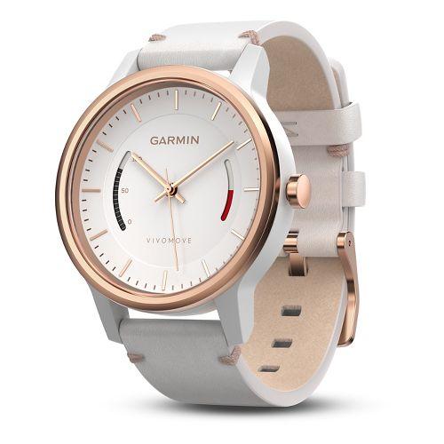 Garmin vivomove Classic Watch with Activity Tracker Monitors - White/Rose Gold