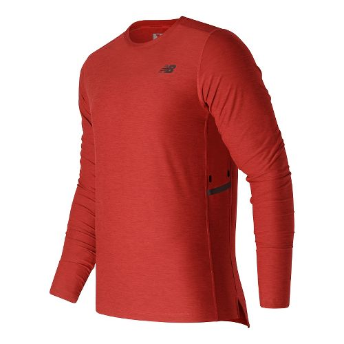 Mens New Balance N Transit Long Sleeve Technical Tops - Atomic Heather S