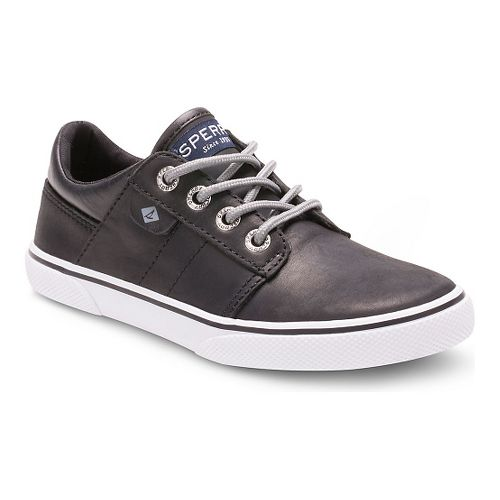 Kids Sperry Ollie Leather Casual Shoe - Black 1.5Y