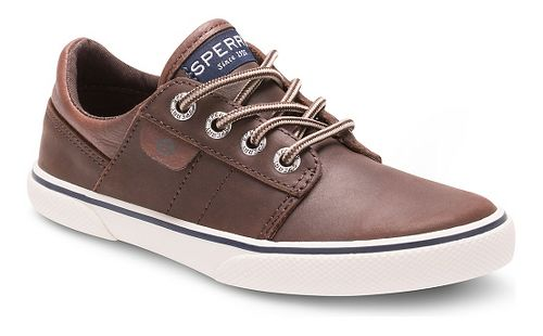 Kids Sperry Ollie Leather Casual Shoe - Brown 3.5Y