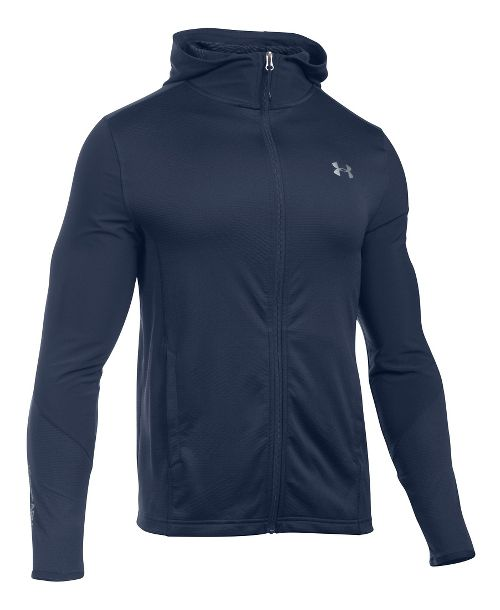 Mens Under Armour ColdGear Infrared Raid Fitted Full-Zip Hoodie & Sweatshirts Technical Tops - ...