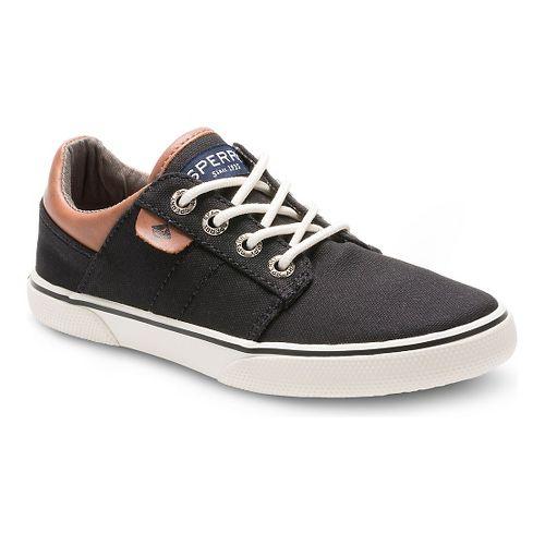 Kids Sperry Ollie Canvas Casual Shoe - Black 3Y