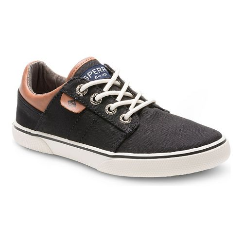 Kids Sperry Ollie Canvas Casual Shoe - Black 7Y