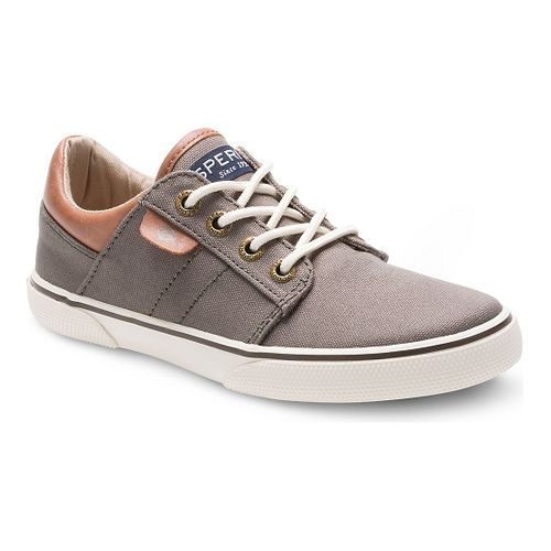Kids Sperry Ollie Canvas Casual Shoe - Truffle 13C