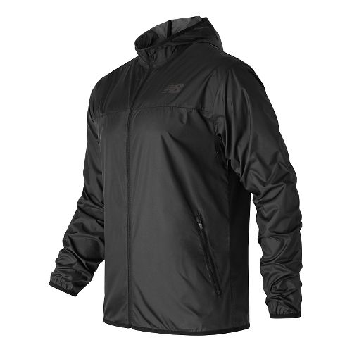 Mens New Balance Windcheater Rain Jackets - Black XL