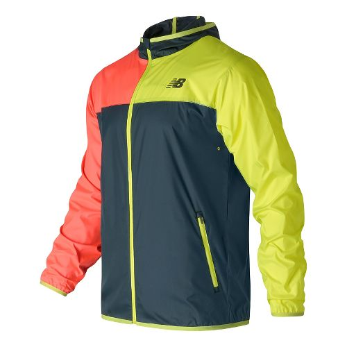 Mens New Balance Windcheater Rain Jackets - Galaxy M