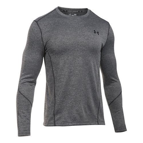 Mens Under Armour ColdGear Infrared Raid Fitted Long Sleeve Technical Tops - Black/Black 3XL