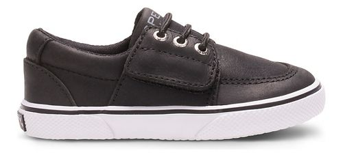 Kids Sperry Ollie Jr. Leather Casual Shoe - Black 7.5C