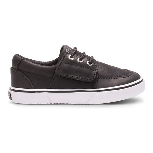 Kids Sperry Ollie Jr. Leather Casual Shoe - Black 9.5C