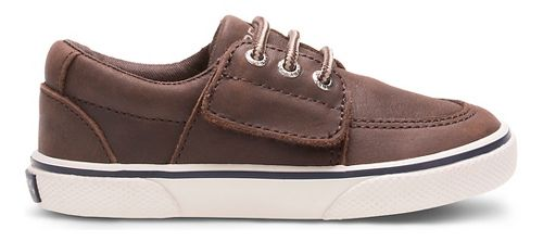 Kids Sperry Ollie Jr. Leather Casual Shoe - Brown 8C