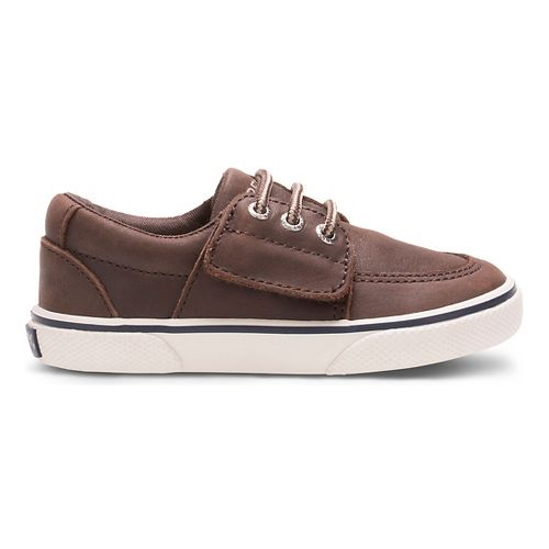 Kids Sperry Ollie Jr. Leather Casual Shoe - Brown 9C