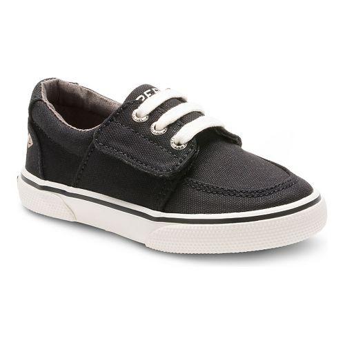 Kids Sperry Ollie Jr. Canvas Casual Shoe - Black 7.5C