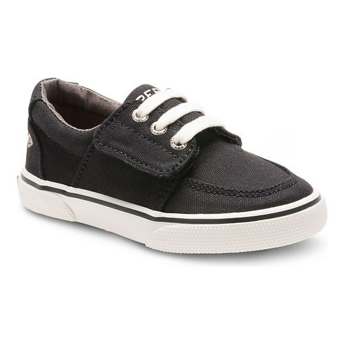 Kids Sperry Ollie Jr. Canvas Casual Shoe - Black 9.5C