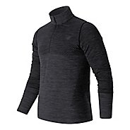 Mens New Balance M4M Seamless Quarter Zip Long Sleeve Technical Tops
