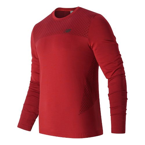 Mens New Balance M4M Seamless Long Sleeve Technical Tops - Atomic S