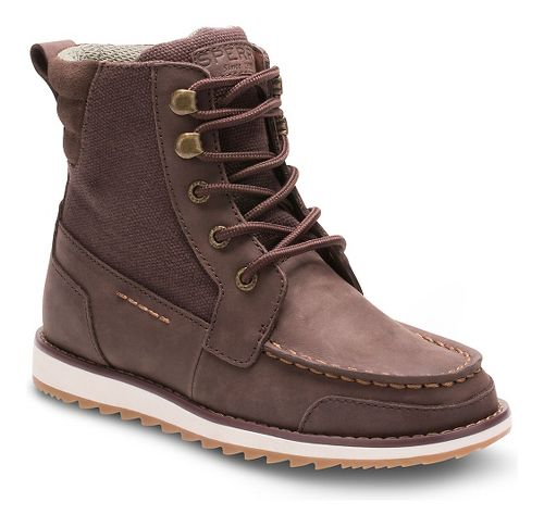 Kids Sperry Dockyard Boot Casual Shoe - Brown 7Y