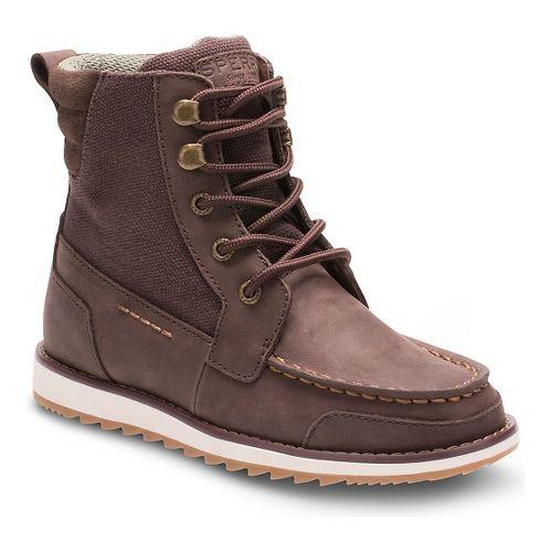 Kids Sperry Dockyard Boot Casual Shoe - Brown 6Y