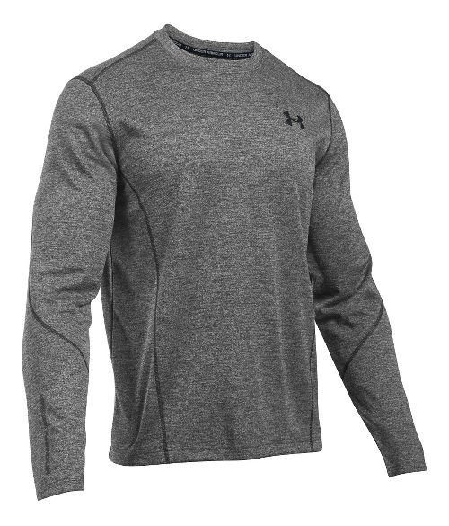Mens Under Armour ColdGear Infrared Raid T Long Sleeve Technical Tops - White/Black SR