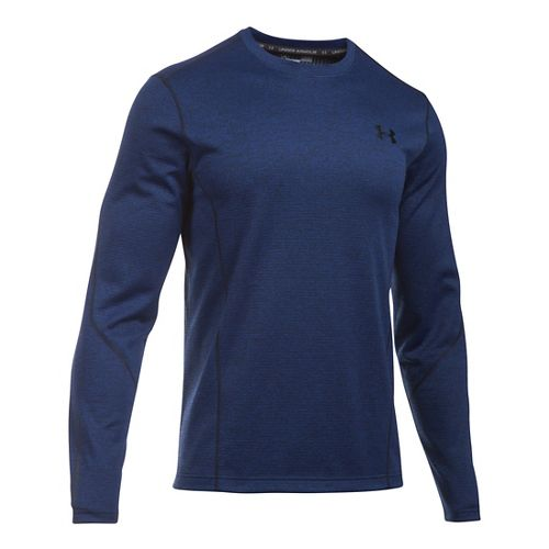 Mens Under Armour ColdGear Infrared Raid T Long Sleeve Technical Tops - Royal/Black SR
