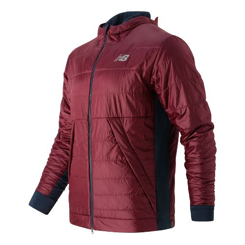 Mens New Balance NB Heat Hybrid Cold Weather Jackets - Sedona XL