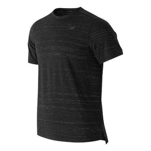 Mens New Balance Max Speed Short Sleeve Technical Tops - Black M